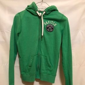 Abercrombie & Fitch Green Full-Zip Hoodie